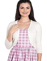 Ripleys Clothing Hell Bunny Ladies 50s Plain Cardigan Maggie Bolero Top White Ivory All Sizes