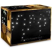 474 LED Tenda luminosa Natale Luci a cascata 7m Interni/esterni