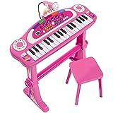 "Simba 271349952,6cm My Music World Girls ""debout clavier avec tabouret"