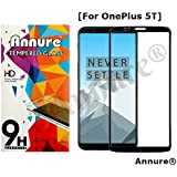 Annure® 3D Anti-Explosive Edge To Edge Tempered Glass Screen Protector For Oneplus 5T / One Plus 5t - Black