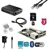 Kit de iniciación Raspberry 3B completo (alimentación, caja, cable...)
