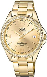 Q&Q Womens Quartz Watch, Analog Display and Stainless Steel Strap CA06J