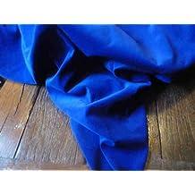 Tela de algodon de terciopelo azul para costura: por metro