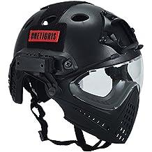 Casco táctico, de OneTigris, con máscara y gafas de protección, para Softair,