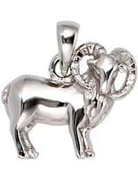 JOBO Anhänger Sternzeichen Widder 925 Sterling Silber rhodiniert