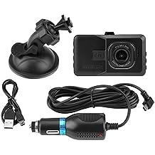 KIMISS Dash Cam Voiture Caméra de Vision Nocturne Enregistreur Vidéo De Voiture En Voiture Dash Cam 1080 P Full HD Dashboard Caméra avec 120 ° Grand Angle G-Sensor Parking Moniteur Anti-Shaking, Balan