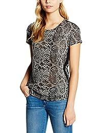 Cortefiel Cforwardslashta Devore Serpiente, Camiseta para Mujer
