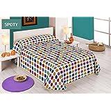 Sabanalia Spoty - Colcha estampada (disponible en varios tamaños y colores), cama 135 - 230 x 280