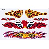 Flames feu TIGER STICKER Tuning Racing Motocross Autocollant feuille 27 x 18 cm