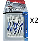 "Pride Professional Tee Plastic Golf Tees - 3 1/4"" White/Blue, 30-Count (2-Pack)"