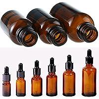 uxradg ätherischen Ölen Glas Dropper, 1Stück Leer, rund, Bernstein Flasche Glas ätherisches Öl Liquid Aromatherapie... preisvergleich bei billige-tabletten.eu