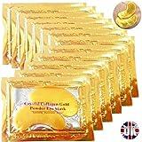 Premium cristal oro colágeno máscara cristal Bio Anti arrugas humedad piel cuidado Patch cojín del ojo con lavanda aceite esencial, colágeno, ácido Haluronic (x 5 máscaras de colágeno) Eye05