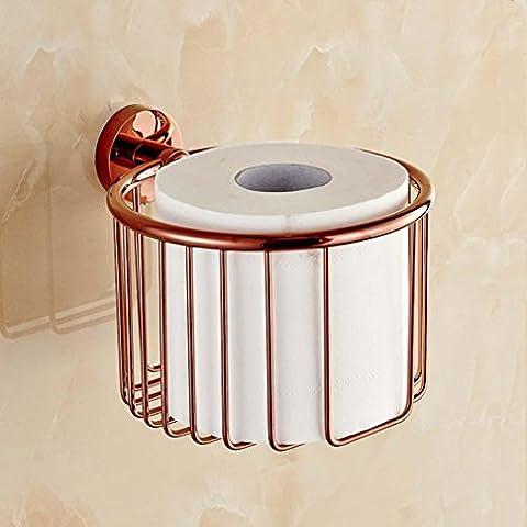 Toalla de papel de cobre sbwylt-european Lou oro rosa papel cestas Rack Compacto