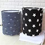 STAR WORK Folding Large Laundry Hamper Bag Clothes Storage Baskets