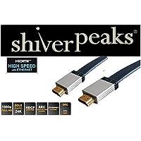 HDMI A-Stecker auf HDMI A-Stecker, vergoldete Kontakte, Full HD, HEAC, 2m