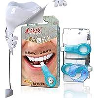 Kit de Nano Blanqueamiento Dental Profesional,Borrador de Dientes Teeth Whitening,para Eliminar El Sarro y Manchas Persistentes Rápidamente, para humo de dientes marrones, café, pigmentos del área de masticación de Hilareco (2 manijas 10 tiras)