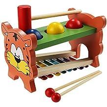 Itian De 8 Notas Xilófono + Bola Golpee Mesas, 2 en 1 Juguetes Musicales del Instrumento para el Desarrollo de la Sabiduría Hijos