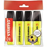 STABILO BOSS ORIGINAL - Lot de 4 surligneurs - Jaune