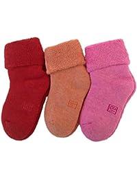 Lian estilo de vida los niños Cachemira lana calcetines Plain color