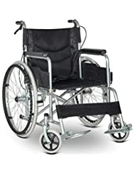 Silla de ruedas propulsada Liviana Plegable para Discapacitados Ancianos Freno De Mano Portátil para Autos Scooter