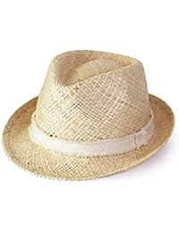 Chapeau de Paille Trilby Jazz Hommes Femmes Filles Bord Large Plein Air Plage Chapeaux de Soleil d'Été Printemps