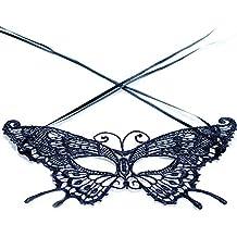 JUNGEN Máscara de Encaje de mujer Máscara glamorosa Máscara elegante para Halloween Mascarada Carnaval Fiesta de Baile Fiestas de Disfraces (Mariposa)