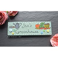 Personalised Wooden Handpainted Greenhouse Sign | Potting Shed | Station | Garden | Allotment | Plaque | Vegetables | Gift | Gardeners Gift