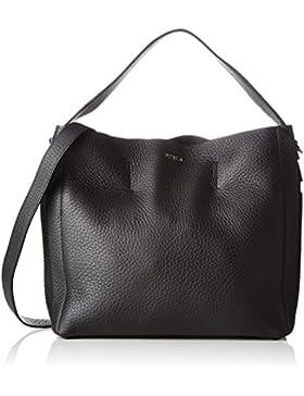 FURLA Damen Capriccio M Hobo Business Tasche, Schwarz (Onyx), 14x31x36 cm