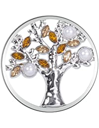 33mm Meilanty señoras Joyería Coin Coin para el árbol colgante de collar de la vida