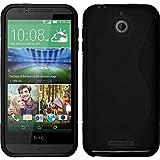 Funda de silicona para HTC Desire 510 - S-Style negro - Cover PhoneNatic Cubierta Case
