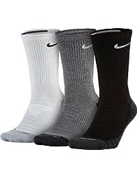 Nike U Dry Cush QTR 3pr Calcetines, Hombre, Hombre, Schwarz - Grau -