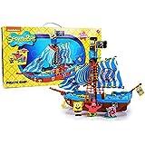 Bob Esponja - Barco pirata, incluye figura de Sponge Bob, Gary y Patricio (Simba 9499928)