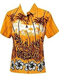 Blusas botón de la Camisa Hawaiana a Las Mujeres Desgaste de la Playa de Manga Corta