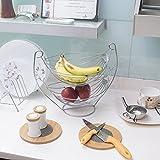 Klaxon Fruit And Vegetable Basket - 2 Tier Stainless Steel Fruit & Vegetable Basket (Chrome Finish)