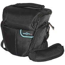 Maxsimafoto - Bolsa para cámara Fujifilm Finepix (modelos S7000, S9000, S9100, S9500, S9600, S4000, S3200, S2950, S2500, S2800, S1800, HS20EXR, HS22EXR, HS25EXR, HS33EXR, HS50EXR), color negro