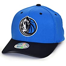 Mitchell   Ness Snapback 110 Curved 2 Tone Team Logo Dallas Mavericks  royal Black 7d63529c78e
