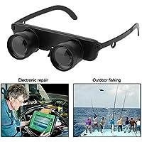 Sungpunet Gafas de Ojo Doble Estilo al Aire Libre Pesca Binocular Optics Gafas 3X28