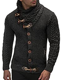 LEIF NELSON cardigan Chaqueta hombres tejer su_ter LN4195 Chaqueta