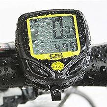 Idealeben Cronómetro para Bicicleta Inalámbrico LCD para Inalámbrico a Prueba de Agua Cronómetro Despertador Automático
