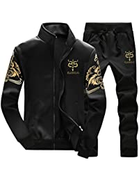 ffeceb63f150 Silver river Men s Causal Tracksuit Set Stand Collar Sportwear Tracksuits  Full Zip Sports Jogging 2 Pieces Suits