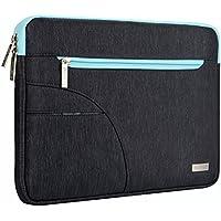 MOSISO - Custodia Borsa Involucro Sleeve Case per iPad Pro 12,9 / Netbook / Laptop / Notebook / Computer Portatile / MacBook Air da 13-13,3 Pollici, Nero & Blu Caldo