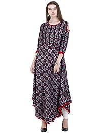 AnjuShree Choice Women's Cotton Printed Stitched Kurti