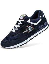 Los Hombres al Aire Libre Zapatos Deportivos Estilo de Vida de Cuero Genuino Zapatillas Caminar Zapatillas