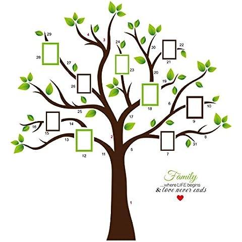 KiKi scimmia PVC enorme cornice nera adesivo muro albero della memoria ramo della parete del vinile adesivi rimovibili