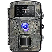 Victure Wildkamera 12MP 1080P Full HD Bewegungserkennungs Jagdkamera mit No Glow Infrarot Nachtsicht IP66 wasserdichte Überwachungskamera für die Sicherheit zu Hause