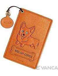 Corgi Gales/Pembroke piel de perro Pass/ID/De Crédito/tarjetero/VANCA funda ** Hecho a mano en Japón