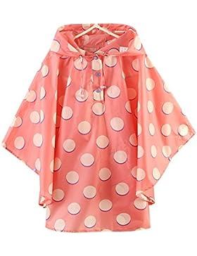 Kinder Mädchen Punkt Regenjacke Regencape - LOSORN ZPY Baby Wasserdicht Regenmantel mit Kapuze