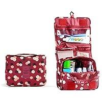 ULTNICE Bolsa impermeable colgante bolsa de lavado de almacenamiento de maquillaje cosmética caja de tocador bolsa de viaje organizador bolsa roja