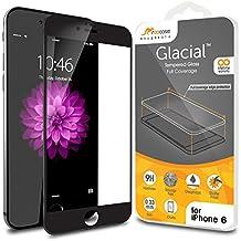 iPhone 6S, iPhone 6S Protector Cristal Templado Edge To Edge 4.7, libre de rooCASE 3d Touch/antihuellas/Ballistic/Bubble para Apple iPhone 6/6S (2015),, Black Border, iPhone 6 (4.7)