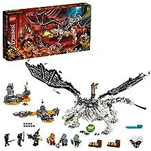 LEGO NINJAGO Drago dello Stregone Teschio 2 in 1 – Set da costruzione e gioco da tavolo con le figure dell'Esercito degli Scheletri,71721